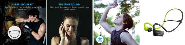 Наушники Bluetooth Anker SoundBuds Sport NB10