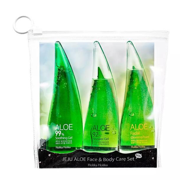 Holika Holika набор средств на основе алоэ Jeju Aloe Face And Bodycare Set