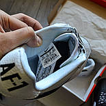 Мужские кроссовки Nike Air Force 1 'NBA Pack' White белые кожаные 36-44р. Живое фото (Реплика ААА+), фото 5