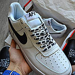 Мужские кроссовки Nike Air Force 1 'NBA Pack' White белые кожаные 36-44р. Живое фото (Реплика ААА+), фото 2