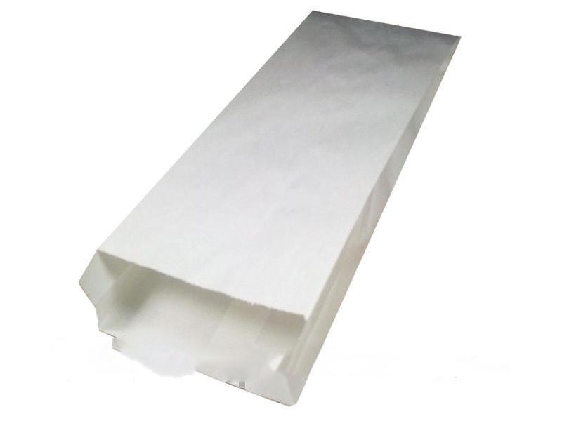 Пакет бумажный 22/6x38 см белый