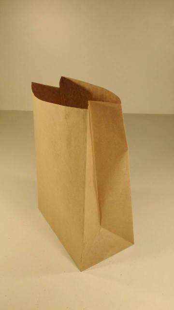 Пакет бумажный с дном 24х15х9 коричневый  №11 (25 штук)