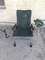 Рыболовное карповое  кресло Elektrostatyk F5R ST/P с широкими подлокотниками (Польша)