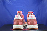 Женские розовые беговые кроссовки, для зала в стиле Adidas iniki runner, фото 2