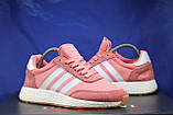 Женские розовые беговые кроссовки, для зала в стиле Adidas iniki runner, фото 5
