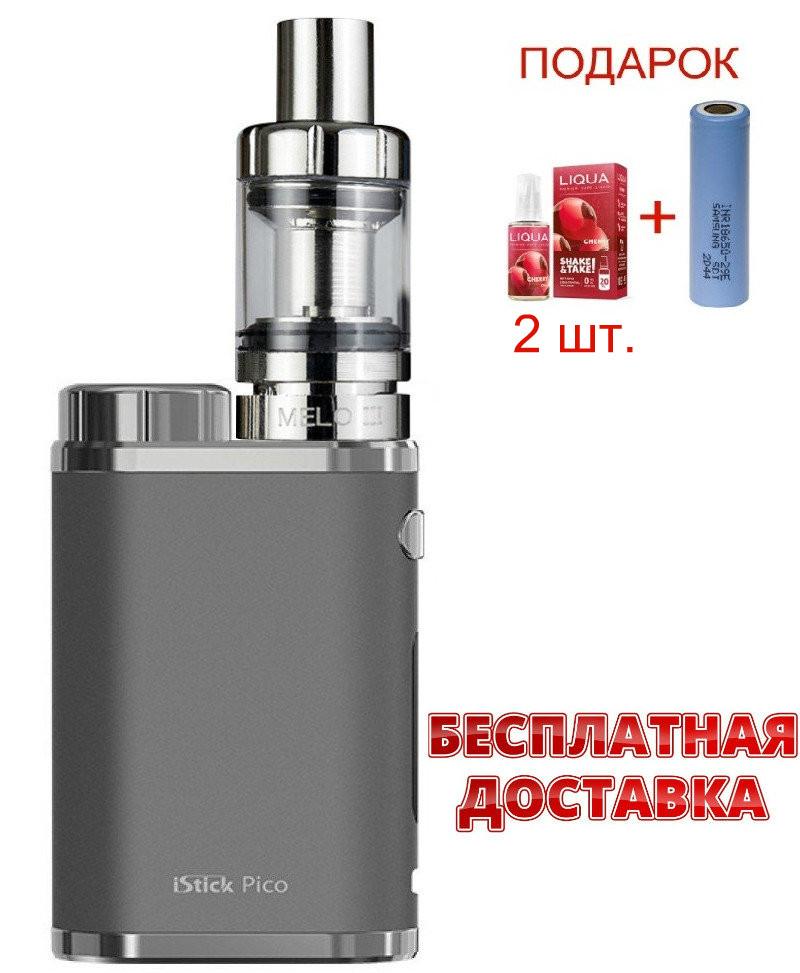 Электронная сигарета Eleaf iStick Pico 75w. Вейп iStick Pico 75w. Бокс мод Ай стик пико 75 Вт серого цвета.