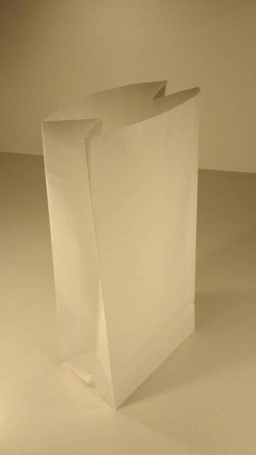 Пакет бумажный с дном 39х19х12 белый №1 (25 штук)