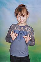 Блузка для школы серая, фото 1