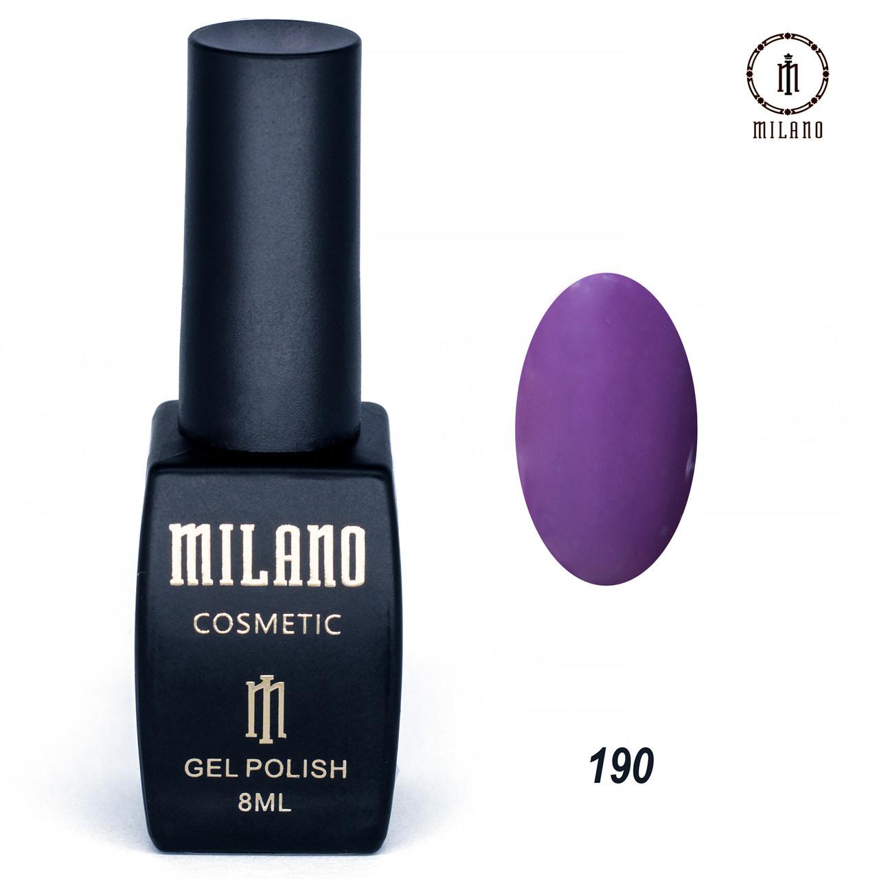 Гель-лак Milano 8 мл. №190⭐⭐⭐⭐⭐
