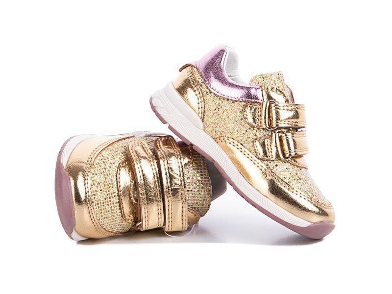 Кросівки дитячі для дівчинки спортивні з супінатором і шкіряної устілкою 23 р (золоті)