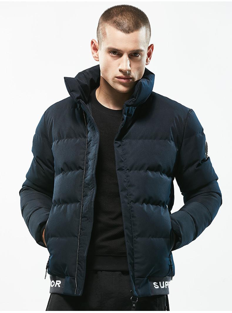 Куртка бомбер мужская осень бренд  City Channel (Канада) размер 46 темно синяя 03004/023
