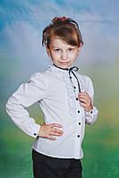 Блузка для девочки школьная с длинным рукавом