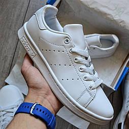 "Женские кроссовки Adidas Stan Smith Womens ""White"" leather 36-40р. Живое фото. (Реплика ААА+)"