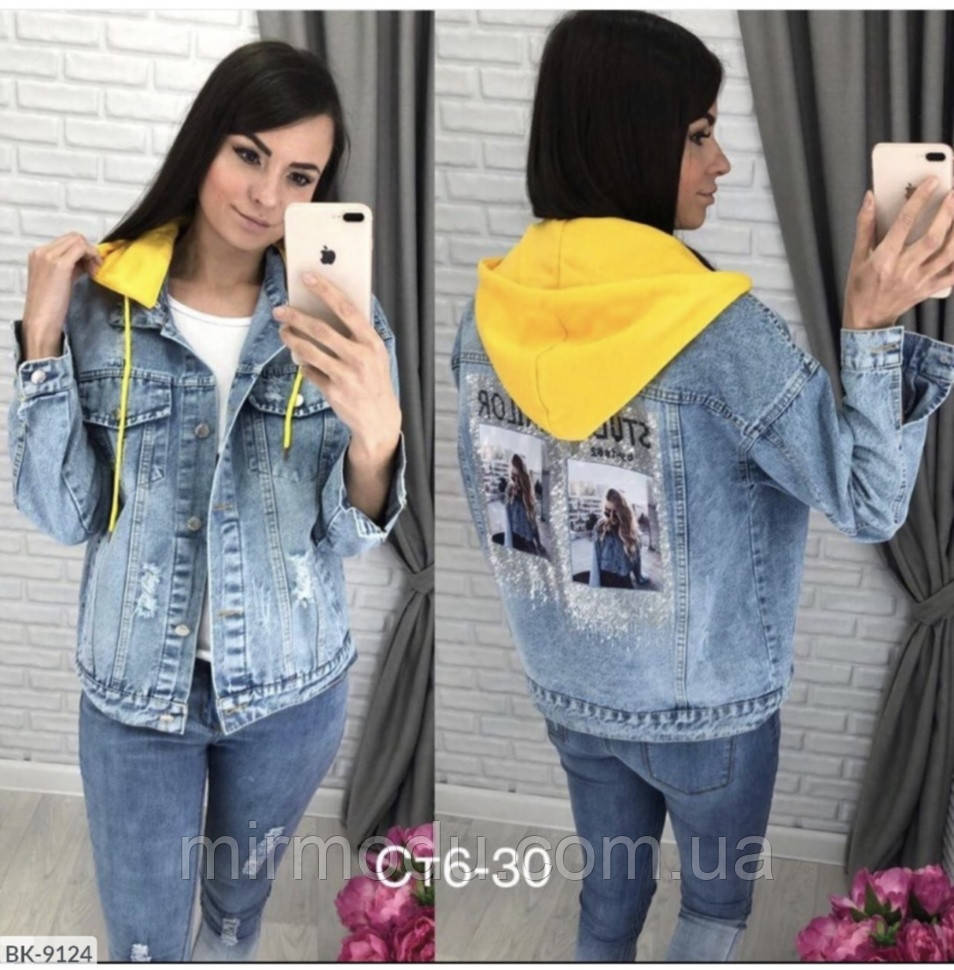 Джинсовая куртка BK-9124 р:42,44,46 043371
