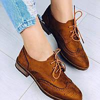 Туфли женские рыжие, фото 1