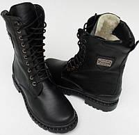 Берцы кожаные зимние подростковые от производителя модель НБ10-1, фото 1