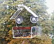 Кормушка для птиц с присосками на окно акриловая Теремок, фото 3