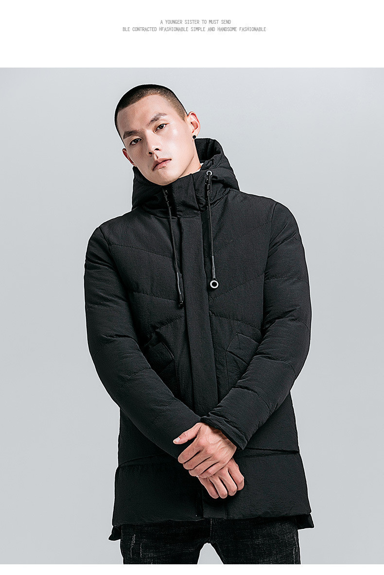 Куртка парка мужская осень зима бренд City Channel (Канада) размер 42 черная 03005/012