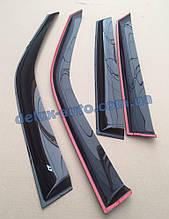 Ветровики Cobra Tuning на авто Volvo V50 2005-2012 Дефлекторы окон Кобра для Вольво В50 2005-2012