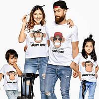 "Парные футболки ""Семья Мonkey"""