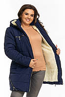 Куртка женская зимняя большого размера Батал на овчинке  K1960HG