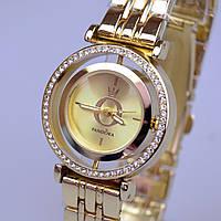 Женские часы PANDORA (Пандора) C35 Gold с вращающемся циферблатом