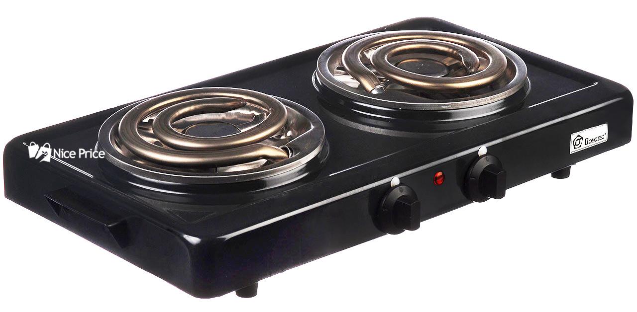 Настольная электроплита Domotec MS-5532 Black (большая спираль) (4790)