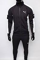 Костюм спортивный мужской PM 8997-120 черный белым реплика