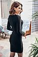 Молодежное женское платье с глубоким декольте Грэйс черный (44-48), фото 4