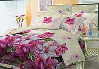 Комплект постельного белья семейный, полиэстер. Постільна білизна. (арт.9382)