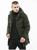 Куртка парка мужская осень зима бренд City Channel (Канада) размер 42 хаки 03005/022