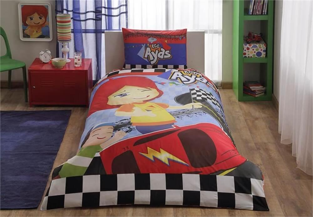 Детское подростковое постельное белье TAC Disney Ayas Race Ранфорс