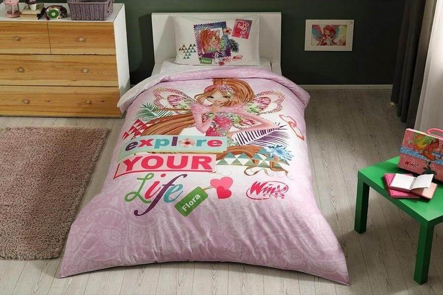 Детское/подростковое постельное белье TAC Winx Flora Fairytale Ранфорс