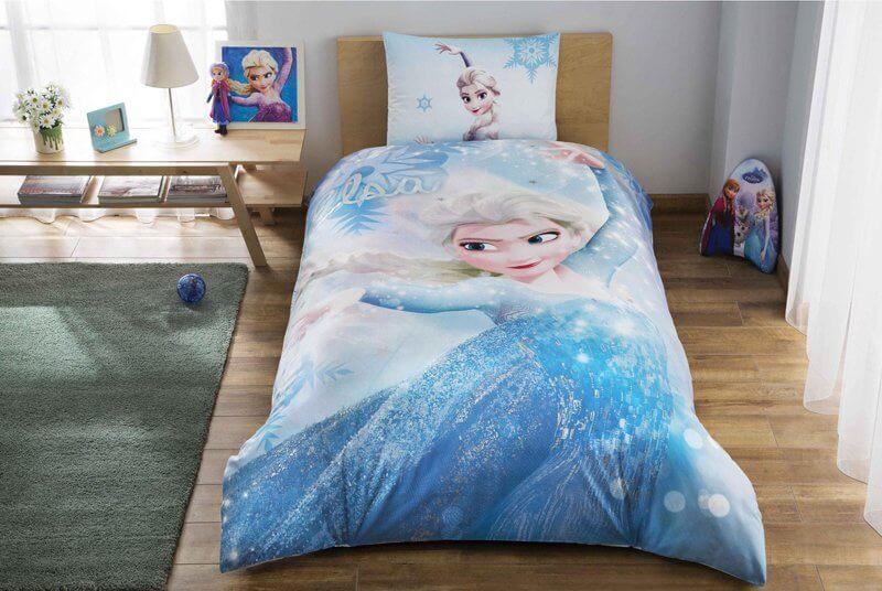 Детское подростковое постельное белье TAC Disney Frozen Glitter Ранфорс