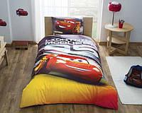 Детское подростковое постельное белье TAC Disney Cars Lightning Mcqueen Ранфорс