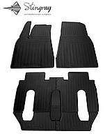 TESLA Model X (6 seats) 2015- Комплект из 7-х ковриков Черный в салон