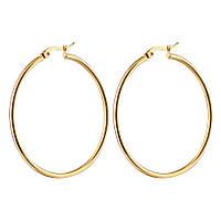 Серьги - Крупное кольцо (Золотистые)
