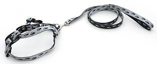 Комплект капроновый Лапки для собак и котов черно-серый