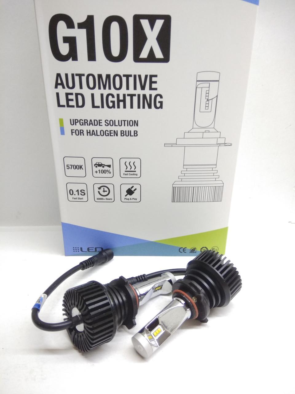 Aвтолампы LED G10X (CL5), HB3/HB4 (9005/9006), 5000K(теплый белый), 30W, Lumileds Luxeon Z ES