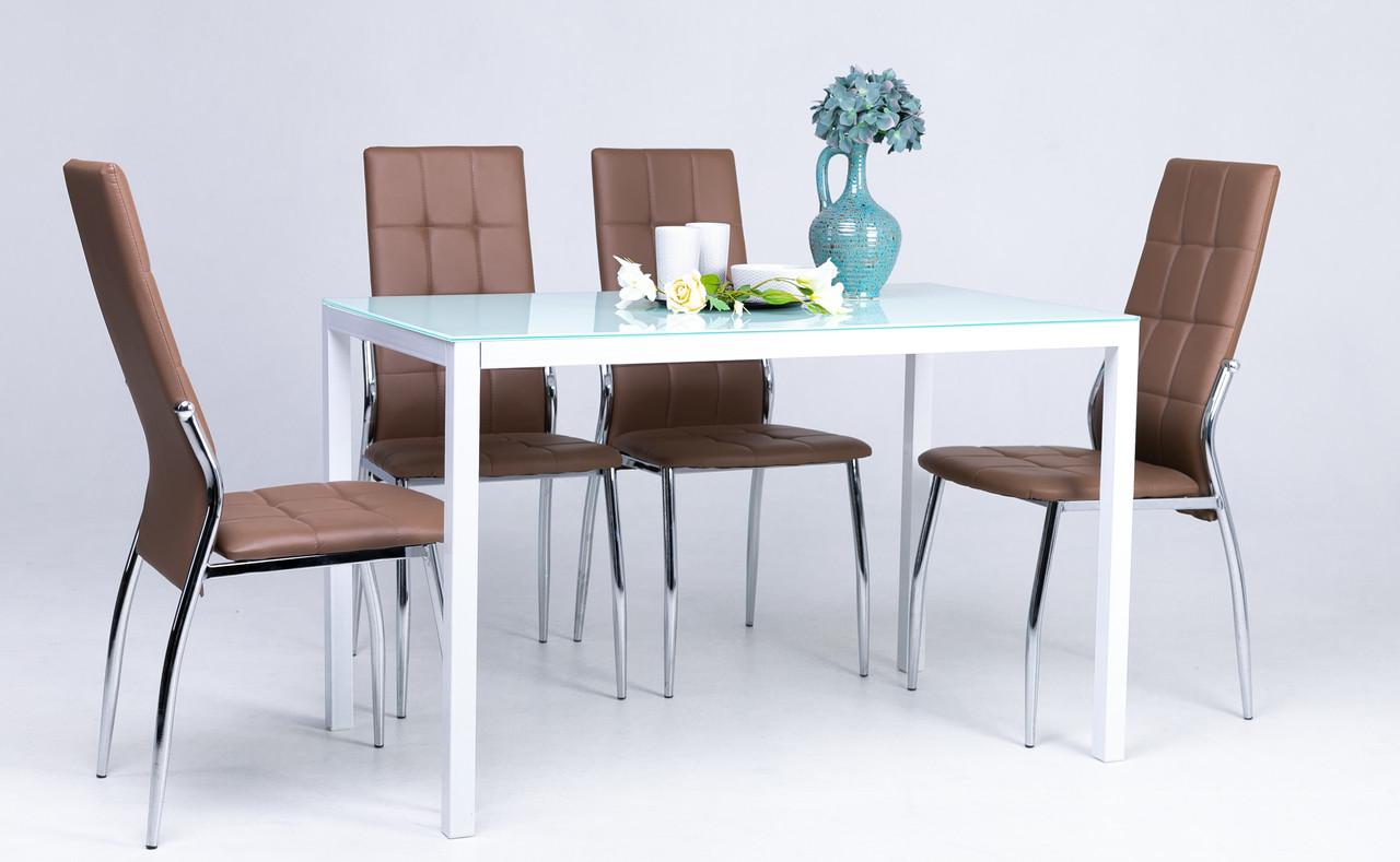 Стол Лео (Белый) (стекло: крашенное)