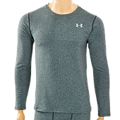 Термобелье мужское футболка с длинным рукавом (лонгслив), PL, эластан, р-р M-XXL, серый