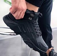 Зимние кроссовки Nike Huarache Winter triple black термо 41-45рр. Живое фото (Реплика ААА+)