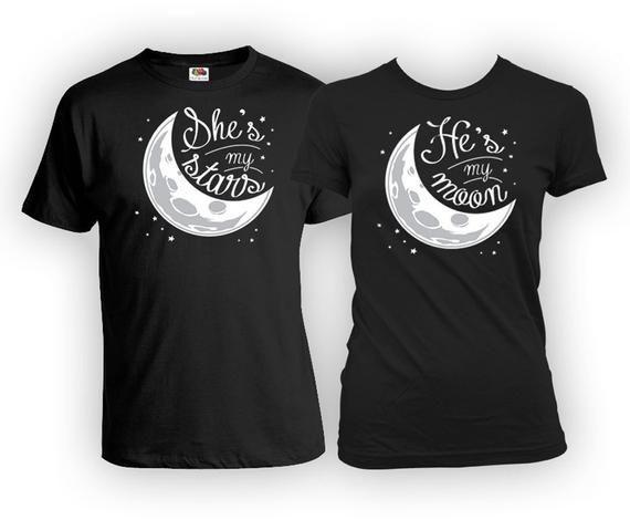 "Парные футболки ""THE MOON"""