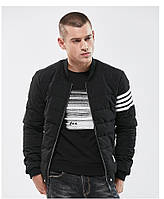 Куртка бомбер мужская осень бренд City Channel (Канада) размер 48 черная 03006/013, фото 1