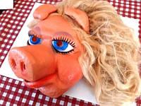Карнавальная Маска с волосами Гламурная Свинка (Маппет шоу)
