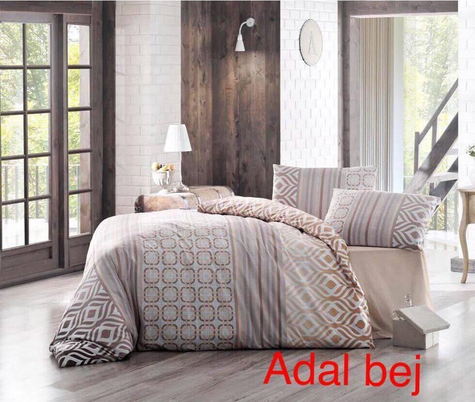 Полуторное постельное белье Altinbasak Adal bej Ранфорс