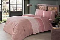 Полуторное постельное белье TAC Marlie Pink Ранфорс