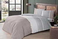 Полуторное постельное белье TAC Marlie Grey Ранфорс