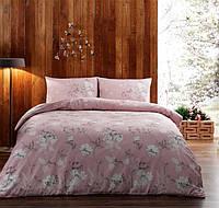 Двуспальное евро постельное белье TAC Bueno Pink Сатин