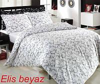 Двуспальное евро постельное белье Altinbasak Elis White Сатин